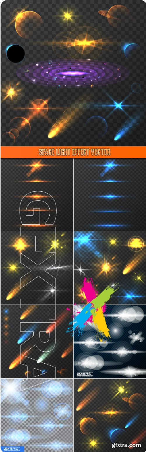 Space Light Effect vector