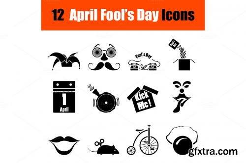 CreativeMarket Set of April Fools day icons 587888