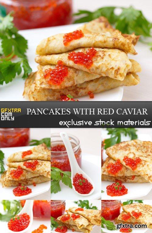 Pancakes with Red Caviar - 7 UHQ JPEG