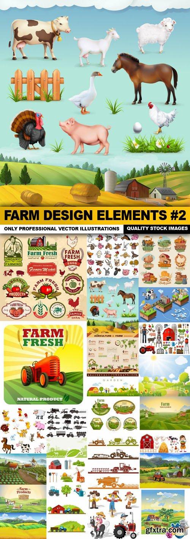 Farm Design Elements #2 - 25 Vector