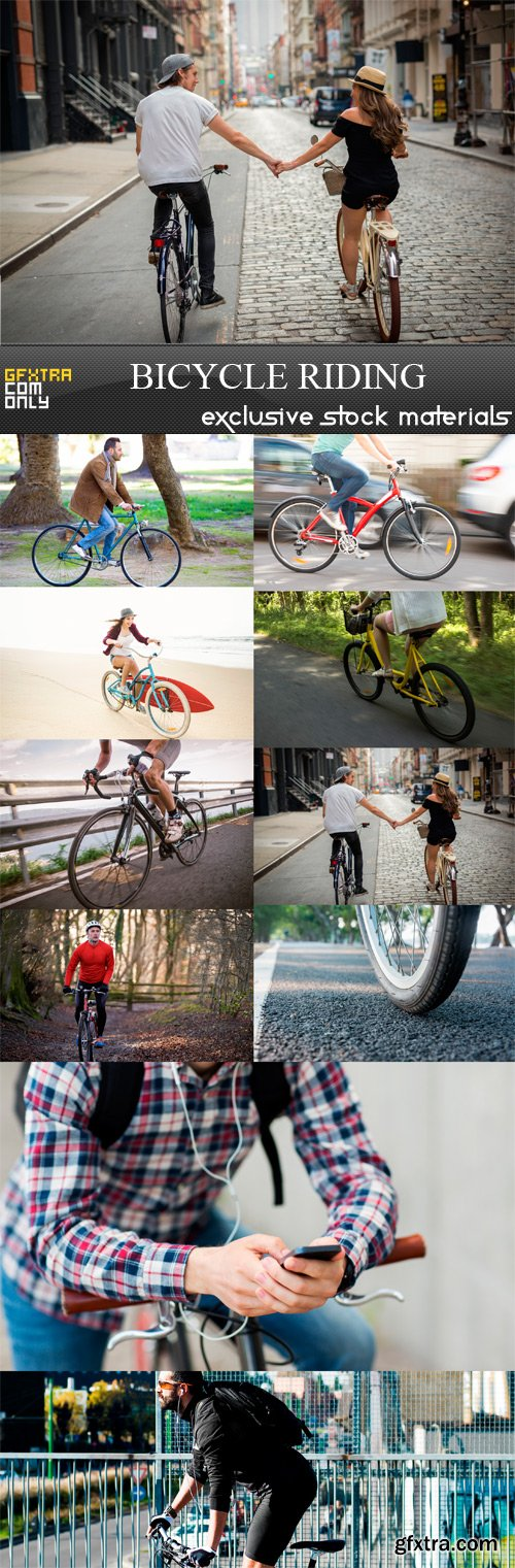 Bicycle Riding - 10 x JPEGs