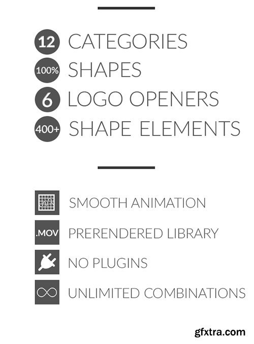 Videohive Shapix - Shape Elements Pack 14061002