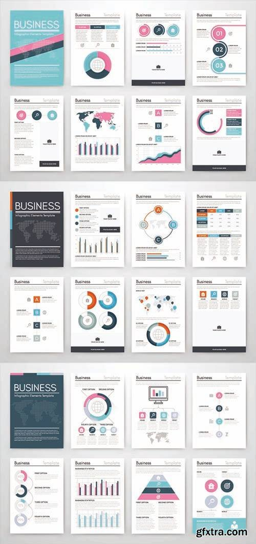 Vector Set of Infographics Business - Template for Business Style, Brochures