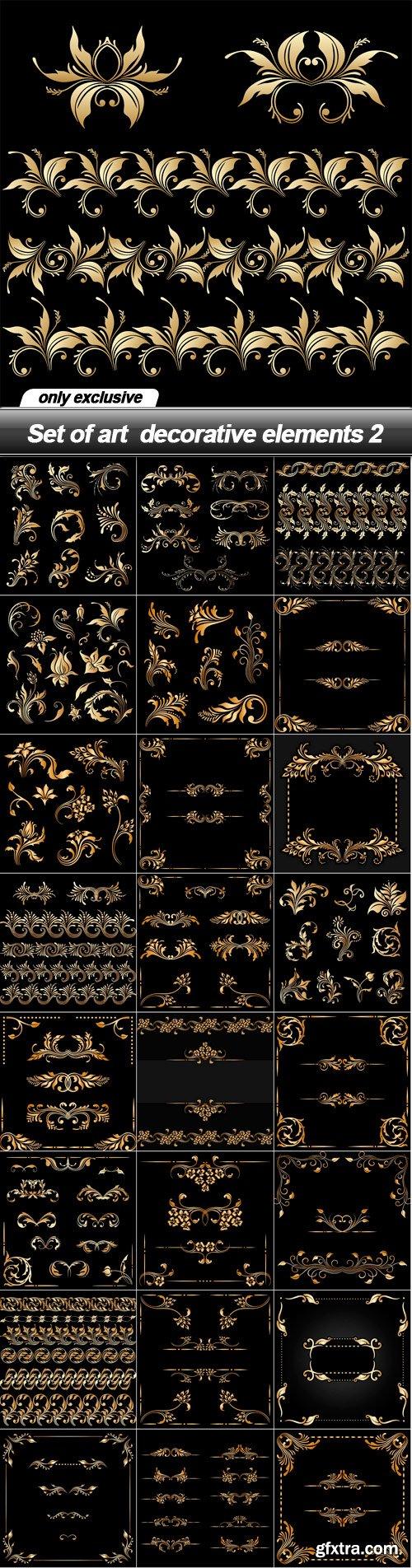 Set of art  decorative elements 2 - 25 EPS