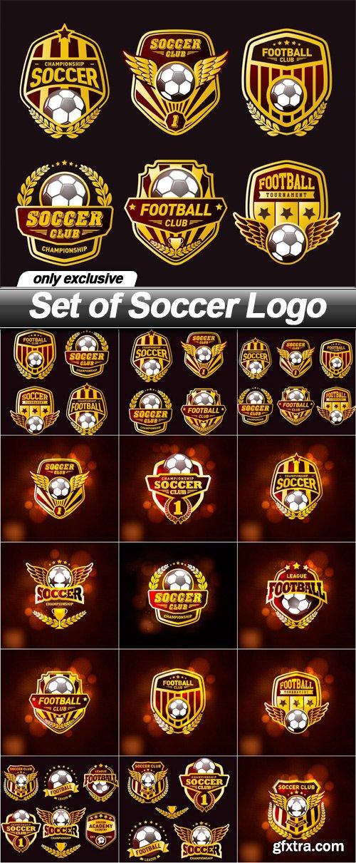 Set of Soccer Logo - 15 EPS