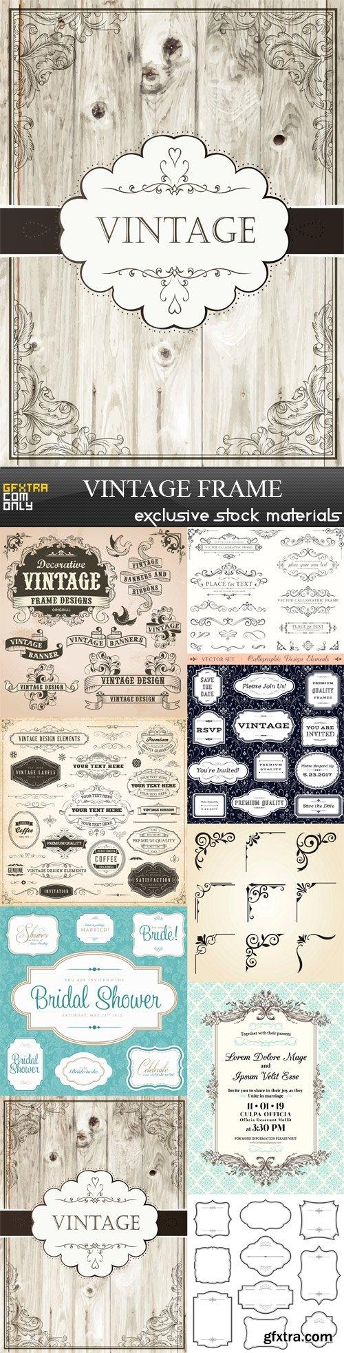 Vintage Frame - 9 x JPEGs
