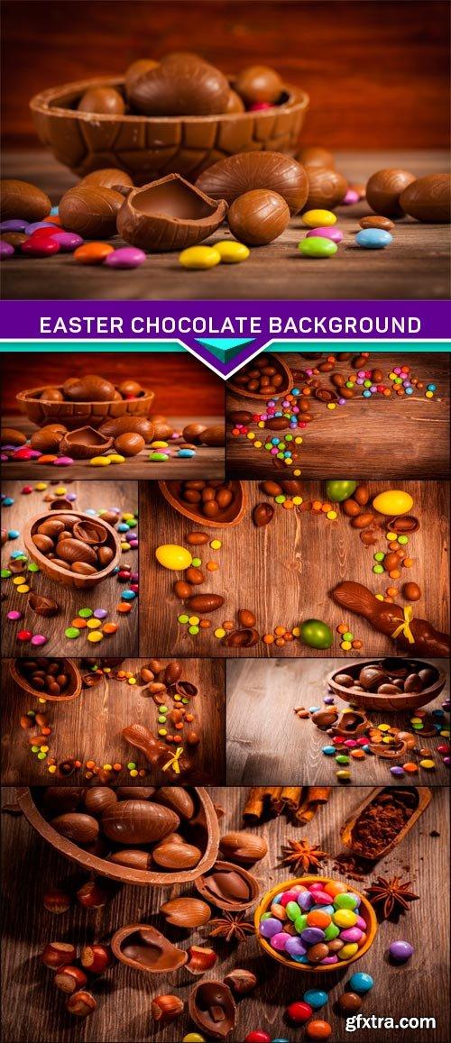 Easter chocolate background 7x JPEG