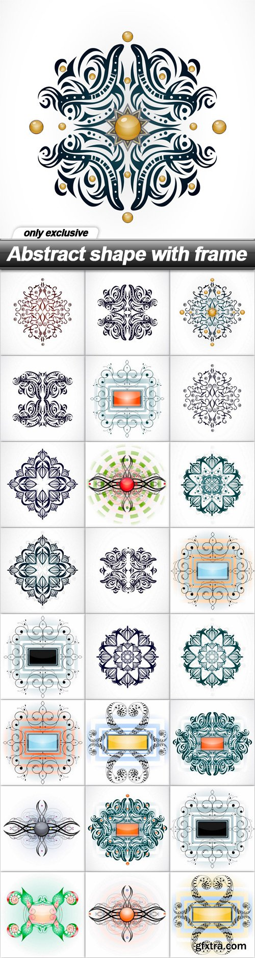 Abstract shape with frame - 25 EPS
