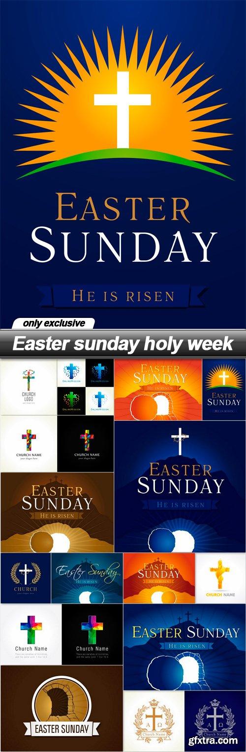 Easter sunday holy week - 15 EPS