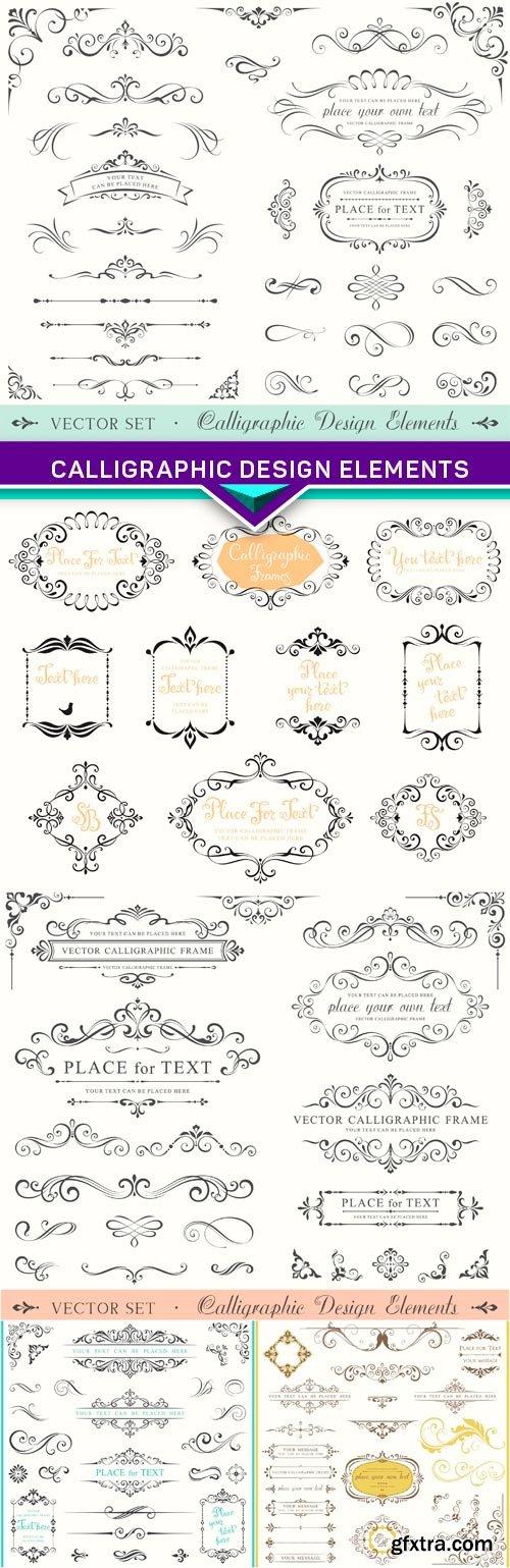 Calligraphic Design Elements 5x EPS