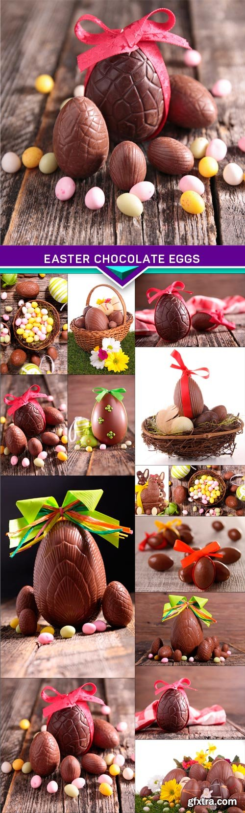Easter chocolate eggs 14x EPS
