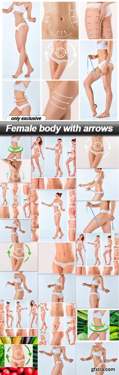 Female body with arrows - 21 UHQ JPEG