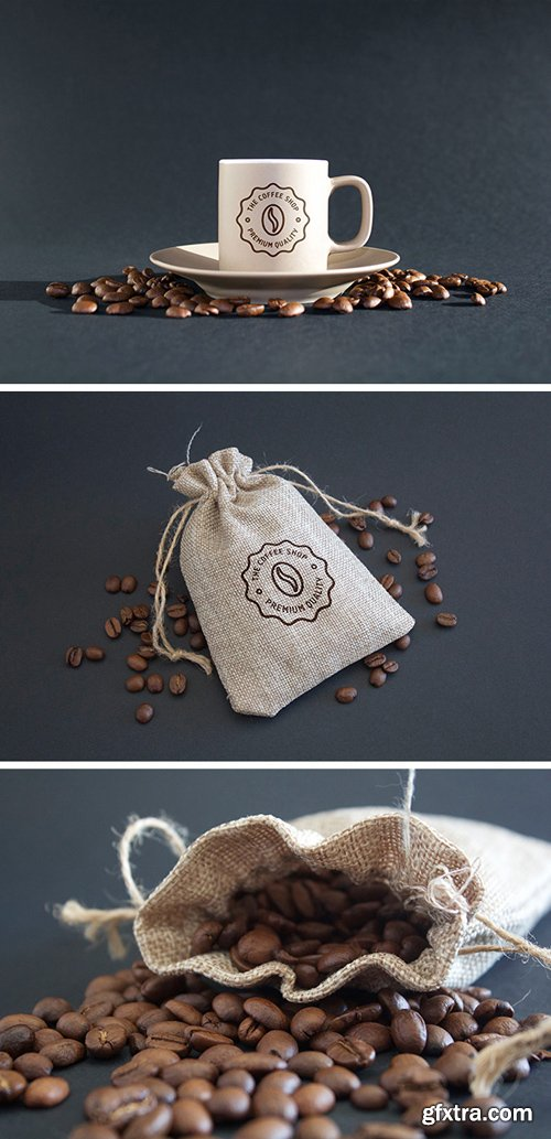 Coffee Mug & Logo Mockup