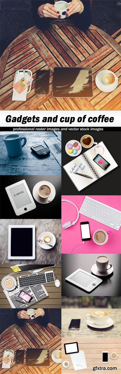 Gadgets and cup of coffee