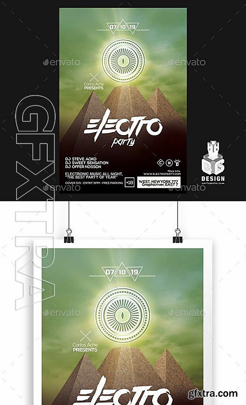 GraphicRiver - Electro Party Flyer - Poster Template 12142668