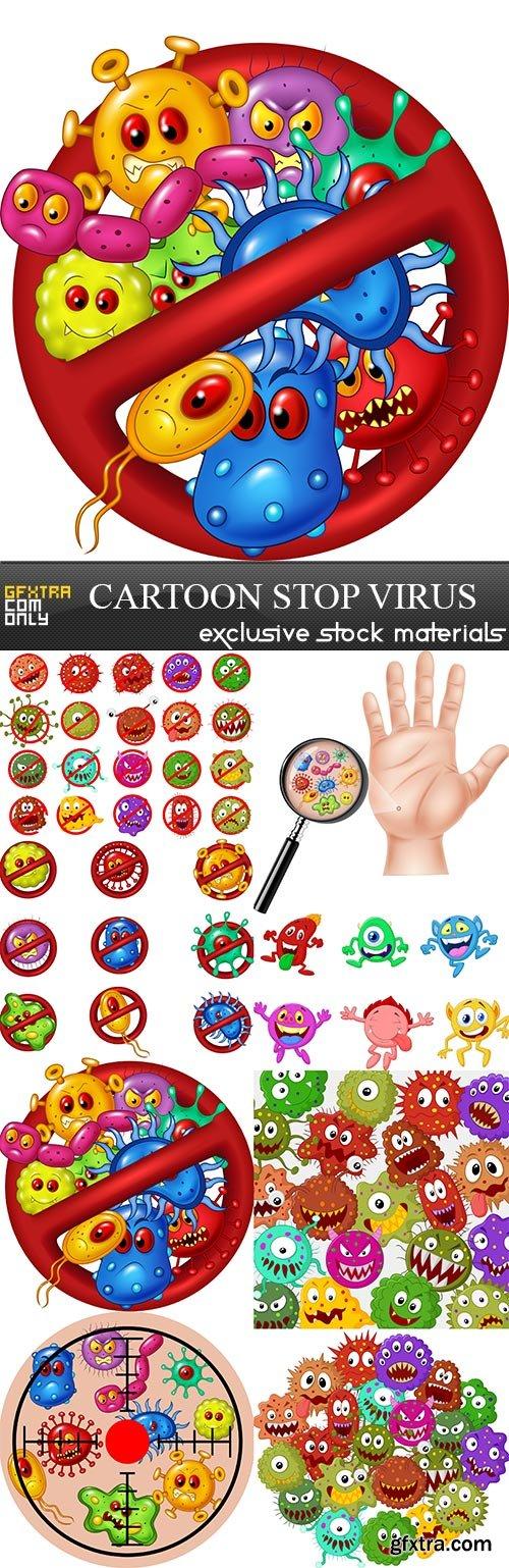 Cartoon stop virus, 8 x UHQ JPEG