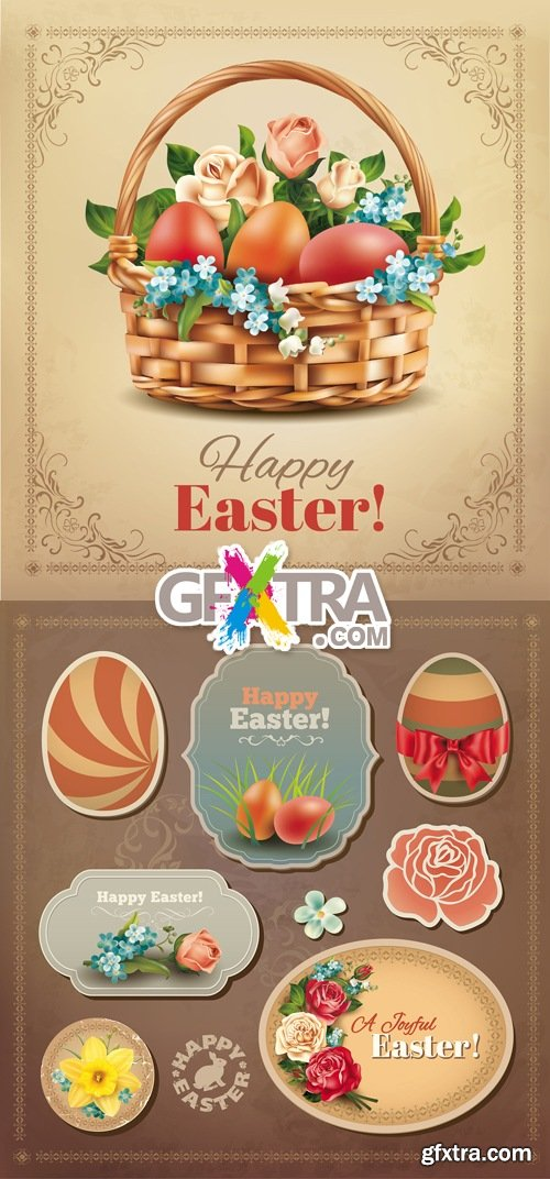 Vintage Style Easter Vector