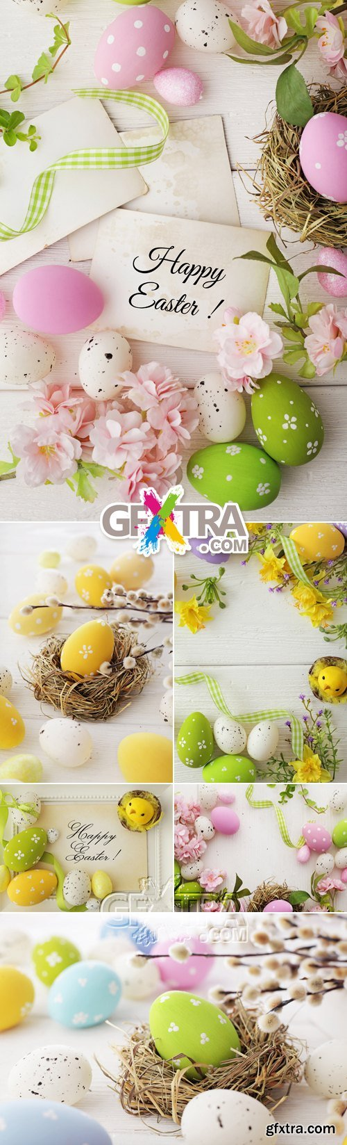 Stock Photo - Color Easter Eggs 2