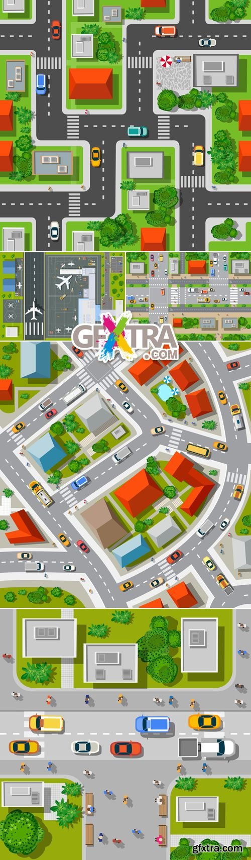 Top View of the City - Isometric Concept Vector