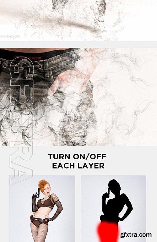 GraphicRiver - Smoke Photoshop Action - Smoke Effect Creator Action 15589521