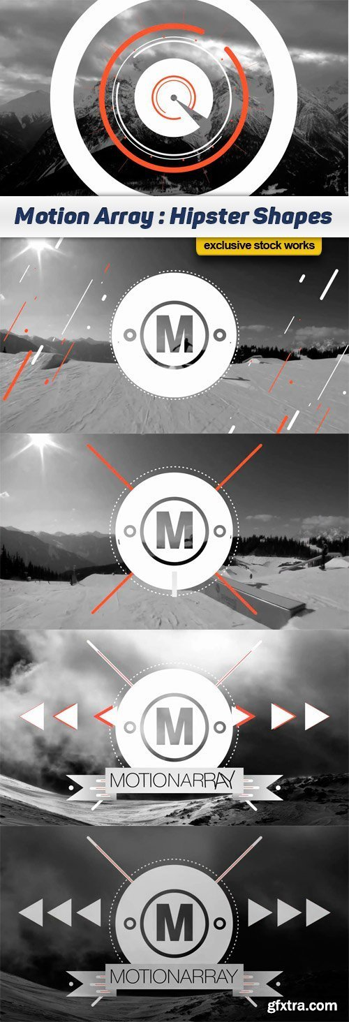 Motion Array - Hipster Shapes Logo After Effects Templat