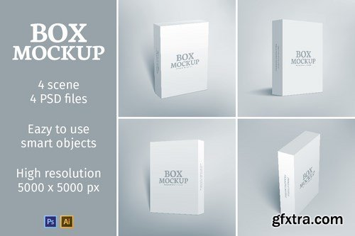 CM - Software Packaging Box Mockup 634345