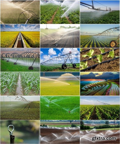 Collection Field Irrigation System watering plants drainage system 25 HQ Jpeg