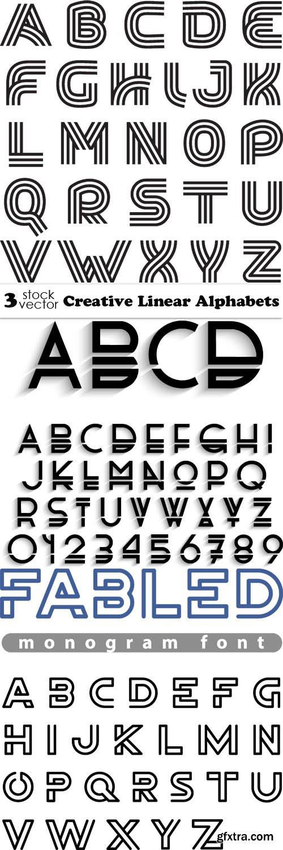 Vectors - Creative Linear Alphabets