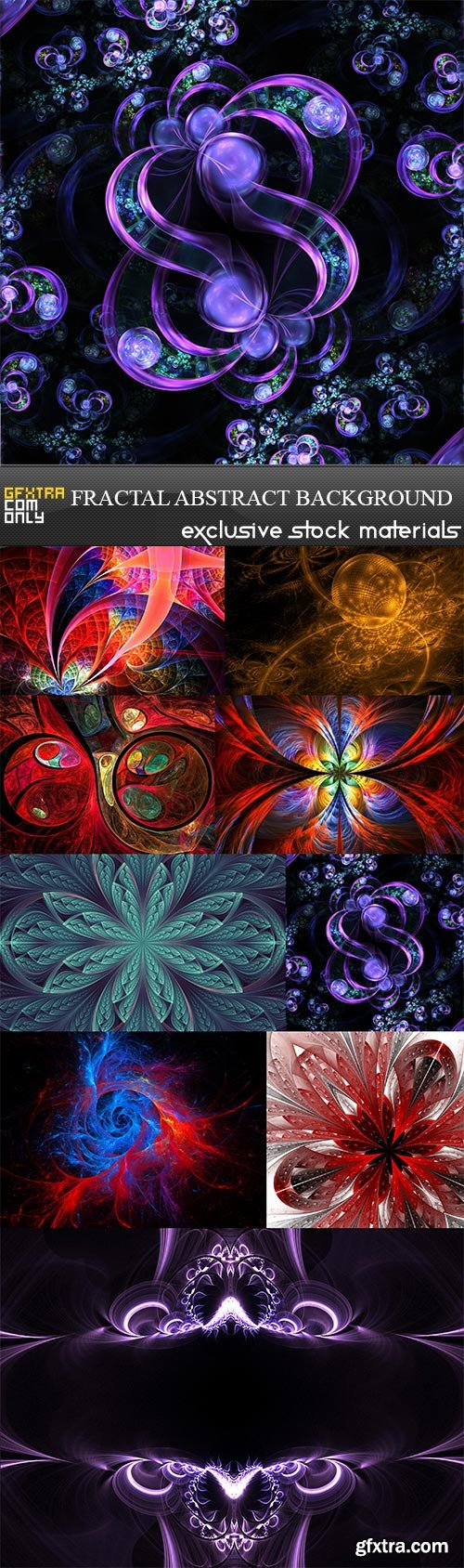 Fractal abstract background, 9  x  UHQ JPEG
