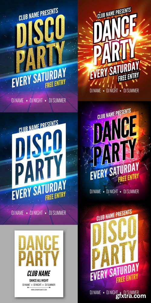 Disco Party Poster Template - Night Dance Party Flyer