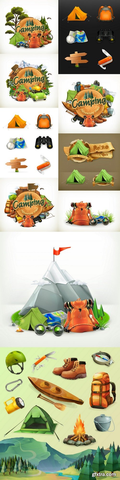 Camping. Adventure time