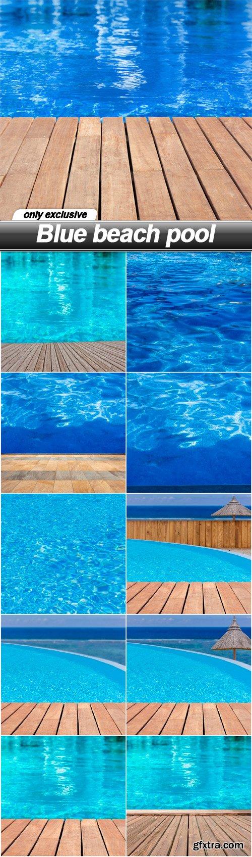 Blue beach pool - 11 EPS