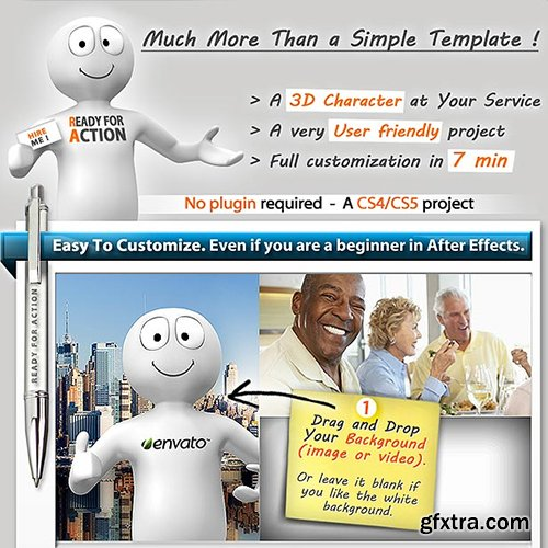 Videohive 3D Character To Promote Your Product or Service 1841479
