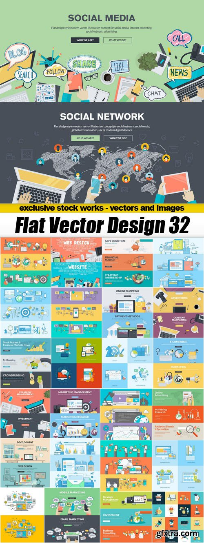Flat Vector Design 32 - 25xEPS