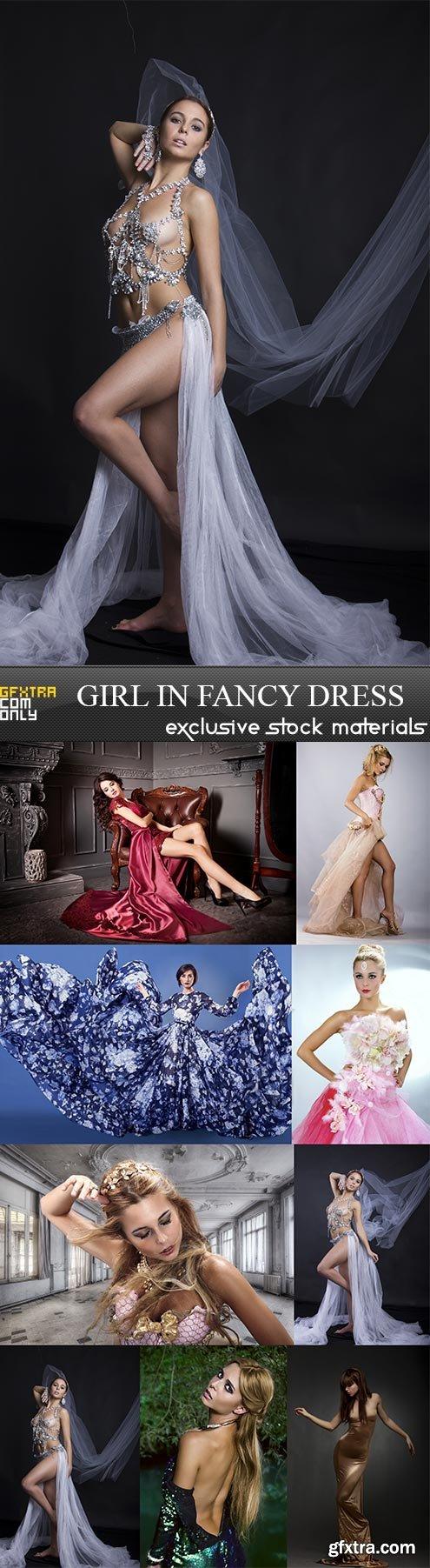 Girl in fancy dress, 9  x  UHQ JPEG