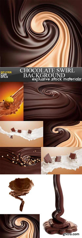Chocolate swirl background, 9  x  UHQ JPEG