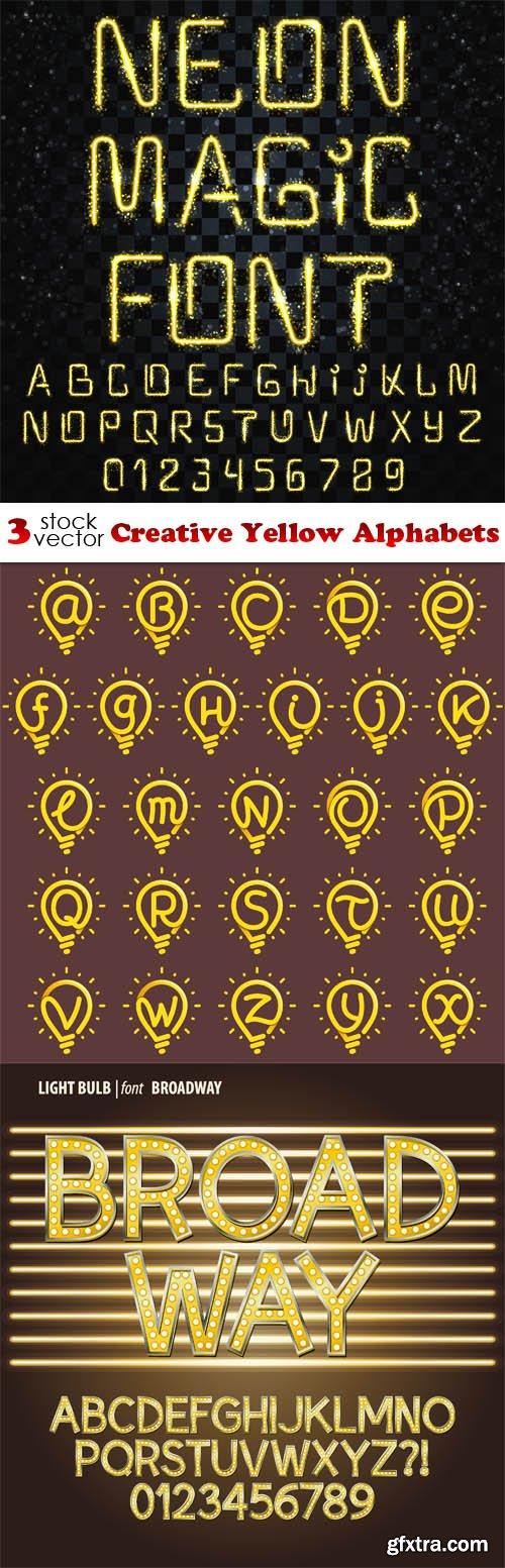 Vectors - Creative Yellow Alphabets