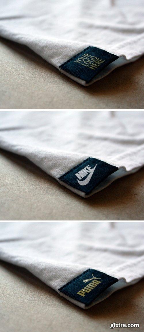 Photoshop Mockup - Logo on the Tag T-shirt