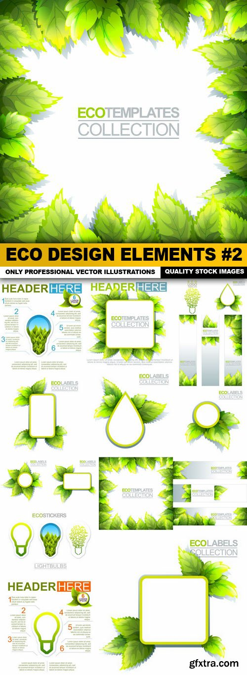 ECO Design Elements #2 - 15 Vector