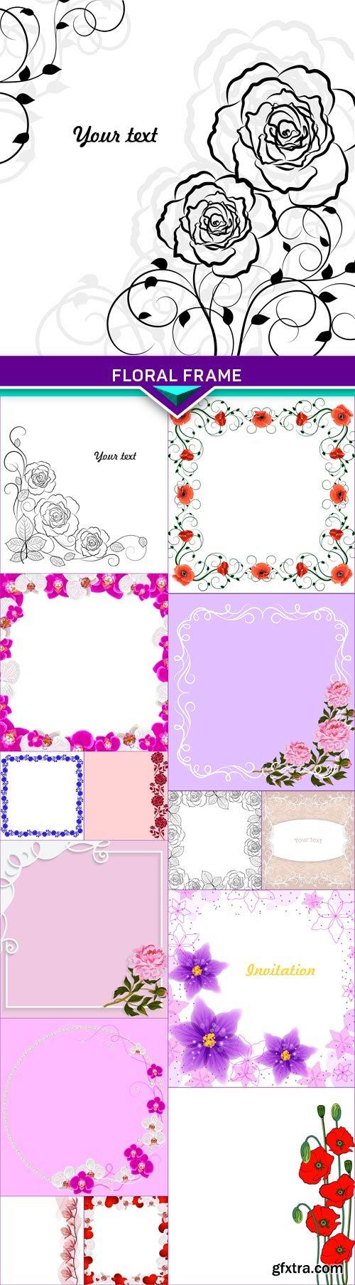 Floral frame1 15x EPS