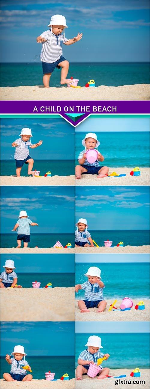 A child on the beach 8x JPEG