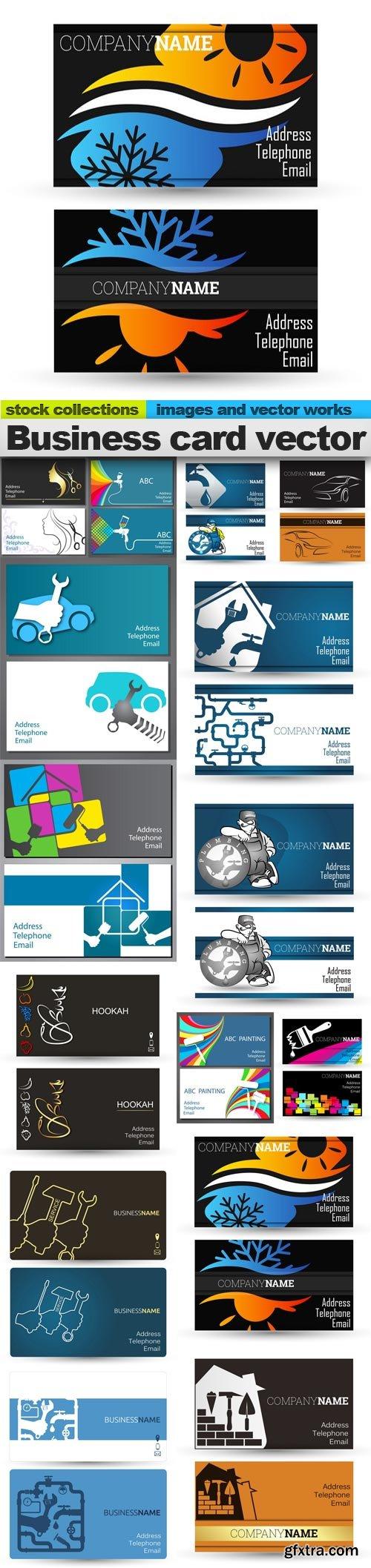 Business card vector, 15 x EPS