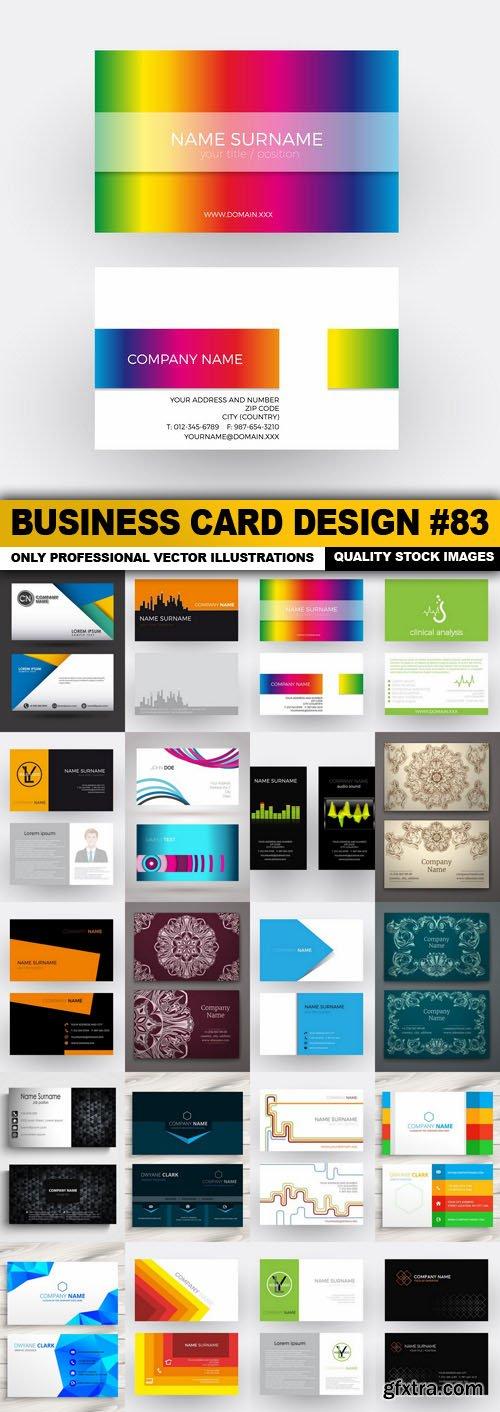 Business Card Design #83 - 20 Vector