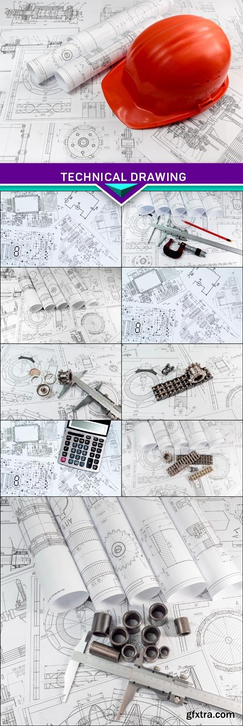 Engineering and technical drawing 10x JPEG