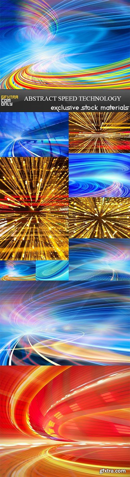 Abstract speed technology, 10  x  UHQ JPEG