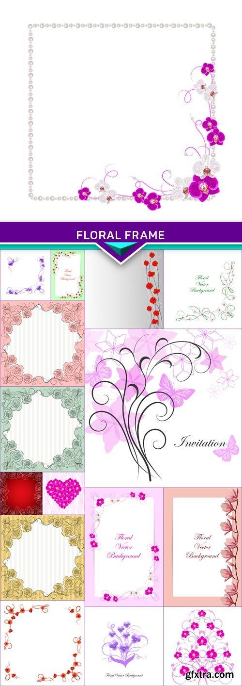 Floral frame2 16x EPS
