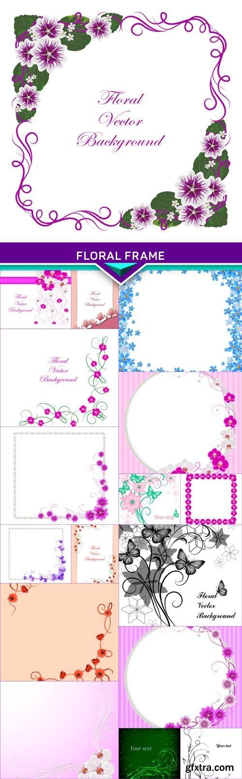 Floral frame3 17x EPS