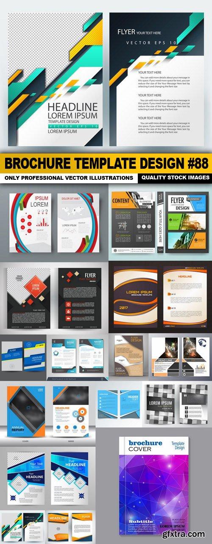 Brochure Template Design #88 - 15 Vector