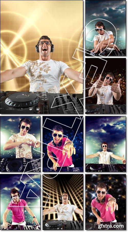Party DJ. - Stock photo