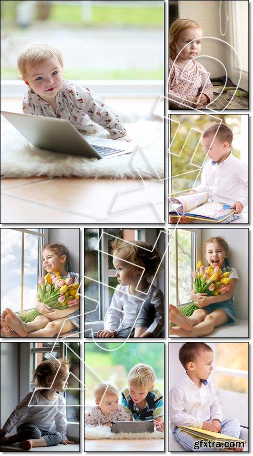 Little miracle the child window - Stock photo